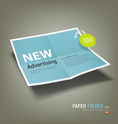 Blue Paper Folded four fold advertising vector image