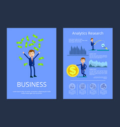business and analytic research vector image
