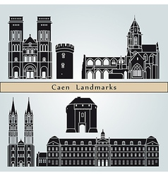 Caen landmarks and monuments vector image