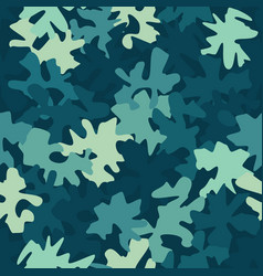 camouflage military marine seamless pattern vector image
