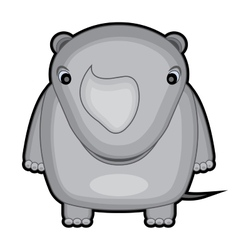 cartoon of a baby rhino vector image