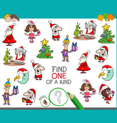 Christmas one of a kind cartoon activity vector