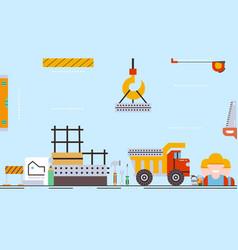 Construction process buildingconstruction vector