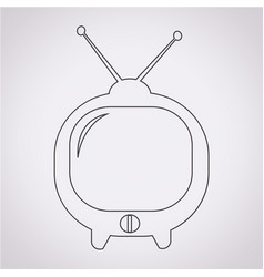 cute tv icon vector image