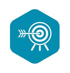 darts icon simple style vector image