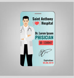 Doctor id card vector