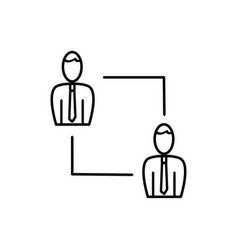 employees connection icon vector image