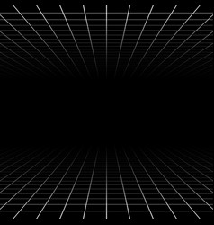 Fading and vanishing grid mesh 3d abstract vector