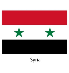 Flag of the country syria vector