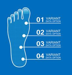 Foot prints info vector