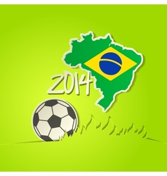 Football 2014 ball background vector