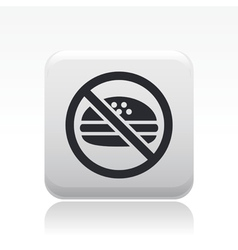 forbidden food icon vector image