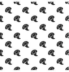garden broccoli pattern seamless vector image