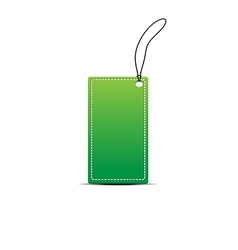 Green tag on white vector image