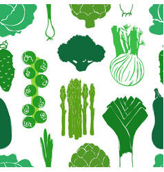 green vegetables seamless pattern vector image