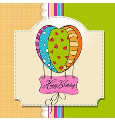 happy birthday card with balloons vector image