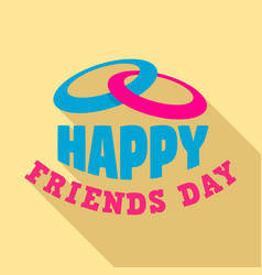 happy friends day logo flat style vector image