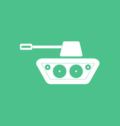 Icon military tank silhouette vector