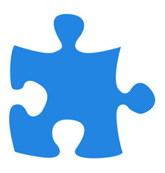 Isolated piece of puzzle vector
