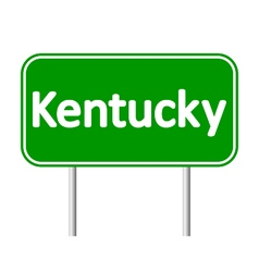 Kentucky green road sign vector
