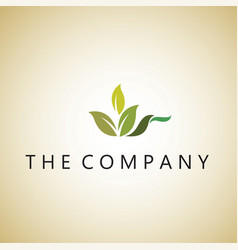 Leaf logo lea ideas design vector