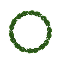 leaves circle frame vector image