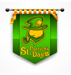 leprechaun award banner vector image
