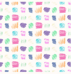 light pastel colors grunge squares pattern vector image