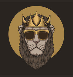 lion king crown head vector image