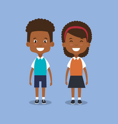 little students avatars characters vector image