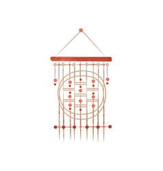 Macrame made of cotton cord home decor element vector