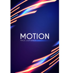 magic neon light effect motion beam design vector image
