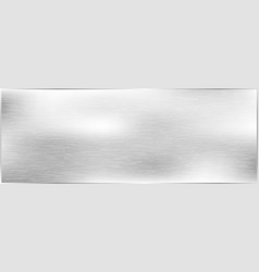 metal brushed texture background grey metal vector image