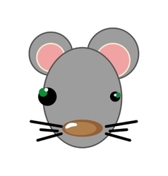 Mouse animal cartoon vector