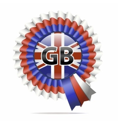 national flag badge GB vector image