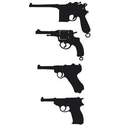 old handguns vector image