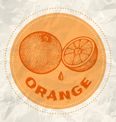 orange vintage paper vector image