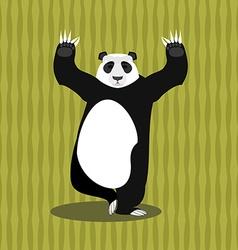 Panda meditating Chinese bear on background of vector