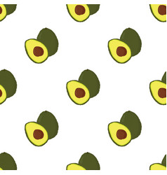 pattern with avocado vector image