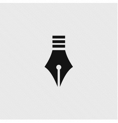 pen icon education vector image