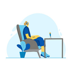 People sitting in chair person vector