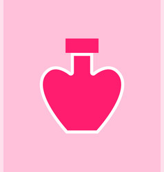 perfumes heart shaped poster vector image