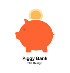 Piggy bank flat vector