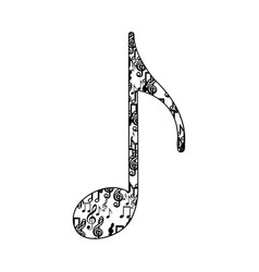 quaver note monochrome silhouette formed by vector image