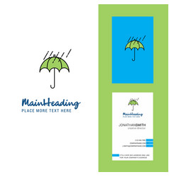 raining and umbrella creative logo and business vector image