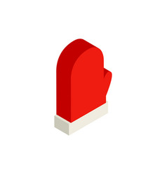 red glove isometric object vector image