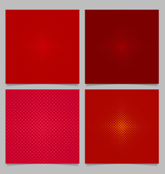 red halftone heart pattern background set - love vector image