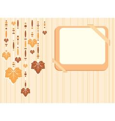 Retro autumn frame vector image