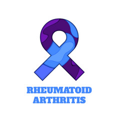 Rheumatoid arthritis awareness papercut ribbon vector