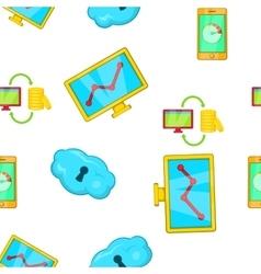 SEO promotion pattern cartoon style vector